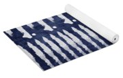 Blue And White Shibori Design Yoga Mat