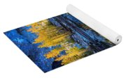 Blue And Yellow Yoga Mat