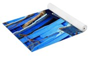 Blue Fishing Boats Yoga Mat