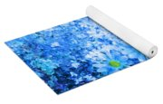 Blue Floral Fantasy Yoga Mat