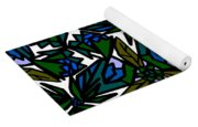 Blue Flowers Yoga Mat