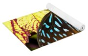 Blue Glassy Tiger Butterfly Yoga Mat
