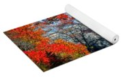 Blue Ridge Autumn Bridge Yoga Mat