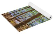 Blue Spring Flowers In Forest Yoga Mat