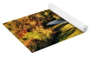 Blue Star Highway In Fall Yoga Mat