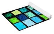Blue Sudoku Yoga Mat