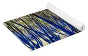 Blue Trees In Nature Yoga Mat