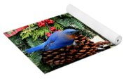 Bluebird Christmas Wreath Yoga Mat