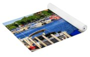 Boats On The Dock Traverse City Yoga Mat