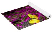 Boronia With Yellow Butterfly Yoga Mat