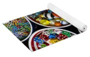 Bowls Of Buttons And Marbles Yoga Mat