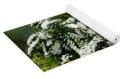 Bridal Wreath Spirea - White Flowers - Florist Yoga Mat