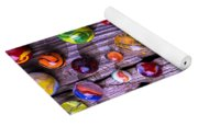 Bright Colorful Marbles Yoga Mat