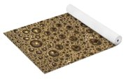 Bubbles And Metal Abstract Yoga Mat
