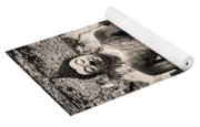 Buddha In Meditation Statue Yoga Mat