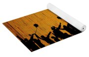 Building Silhouettes In Color Yoga Mat