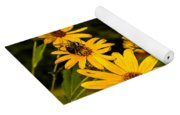Bumble Bee On A Western Sunflower Yoga Mat