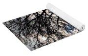 Burning Olive Tree Cuttings Yoga Mat