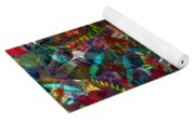Butterfly Collage Red Yoga Mat