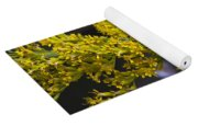 Butterfly On Yellow Yoga Mat