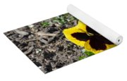 Butterfly Pansies Yoga Mat