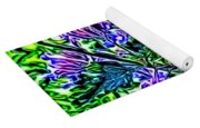 Butterfly With Purple Flowers 2 Yoga Mat