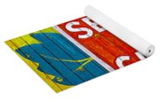Canadian National Railway Stamp Yoga Mat