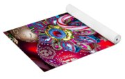 Candy Canes And Colorful Ornaments Yoga Mat