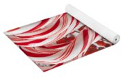 Candy Canes And Red Berries Yoga Mat