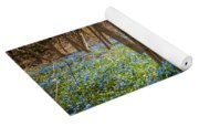 Carpet Of Blue Flowers In Spring Forest Yoga Mat