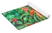 Cascading Day Lilies Yoga Mat