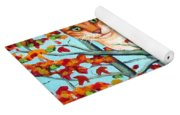 Orange Cat In Tree Autumn Fall Colors Yoga Mat