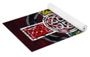 Celtic Cross License Plate Art Recycled Mosaic On Wood Board Yoga Mat