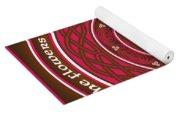 Celtic Lotus Mandala In Pink And Brown Yoga Mat