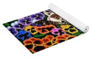 Chihuahua In Flowers Yoga Mat
