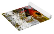 Chilly Birdhouse Holiday Card Yoga Mat