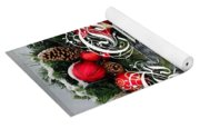 Christmas Greetings Door Wreath Yoga Mat