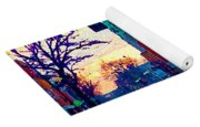 Church Street In Winter Melting Snow Sunset Reflections Montreal Urban City Landscape Scene Cspandau Yoga Mat