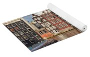 City Of Amsterdam At Sunset In Netherlands Yoga Mat