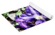 Clematis On A Stone Wall Yoga Mat