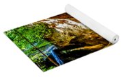 Cliff Rocks And Waterfall Yoga Mat