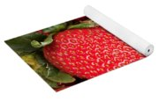 Close Up Of Delicious Strawberries Yoga Mat