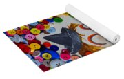 Clown And Duck With Buttons Yoga Mat