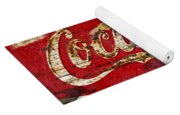 Coca Cola Sign Cracked Paint Yoga Mat