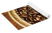Coffee Beans On Antique Silver Platter Yoga Mat