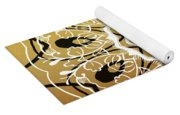 Coffee Flowers 5 Calypso Ornate Medallion Yoga Mat