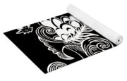 Coffee Flowers 8 Bw Yoga Mat