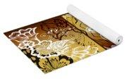 Coffee Flowers Calypso Triptych 2 Horizontal   Yoga Mat