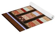 Coin Quilt -  Painting - Brown And White Patches Yoga Mat