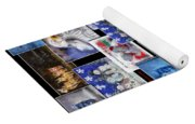 Collage Xmas Cards Vertical Photo Art Yoga Mat